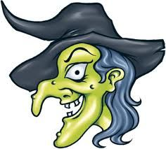 Evil Witch with Crooked Nose